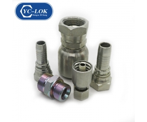 90 degree BSP female hydraulic tube adapter