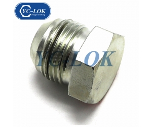 Carbon steel zinc plated low price JIC male plug
