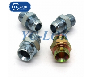 Color Zinc planted hydraulic hose adapter fitting