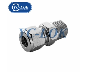 Compression 1/4 OD NPT Straight Male Connector Stainless Steel Tube Fittings