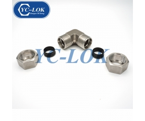 Double ferrule stainless steel 304 Metric elbow hydraulic fittings
