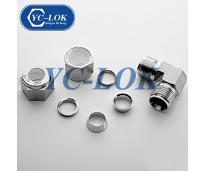High Pressure Stainless Steel 316 Equal Elbow Double Ferrule Fittings