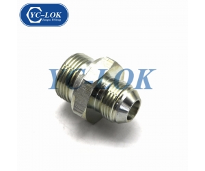 Metric male carbon steel forged hydraulic adapter