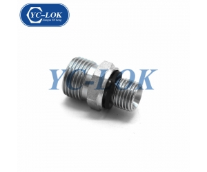 Metric male carbon steel hot forged hydraulic adapter