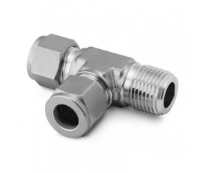 SS-810-3-8TMT Stainless Steel Swagelok Tube Fitting Male Run Tee 34 in Tube OD x 34 in Male NPT x 34 in Tube OD