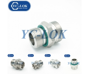 SS316 Stainless Steel Fasteners Straight Flat O-Ring Hydraulic Tube Fittings METRIC MALE 24°CONE SEAT H.T. Manufacturer