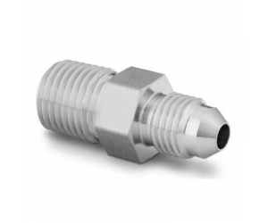 Stainless Steel Pipe Fitting Adapter 716-20 Male JIC Thread x 14 in Male NPT
