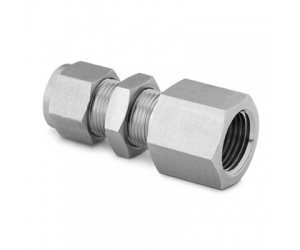 Stainless Steel Swagelok Tube Fitting Bulkhead Female Connector 12 in  Tube OD x 12 in Female NPT