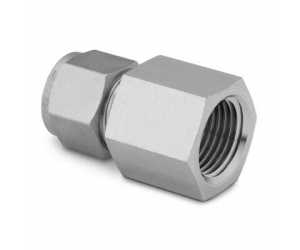 Stainless Steel Swagelok Tube Fitting  Female Connector 14 in Tube OD x 14 in Female NPT