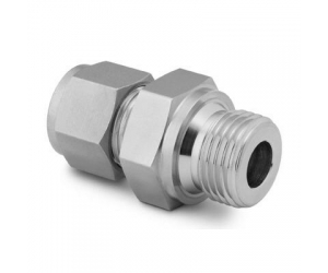 Stainless Steel Swagelok Tube Fitting Male Connector 12 in Tube OD x 12 in  Male ISO Parallel Thread Straight Shoulder