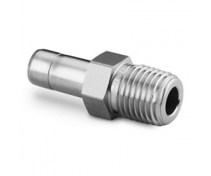 Stainless Steel Swagelok Tube Fitting Male Tube Adapter  14 in  Tube OD x 14 in  Male NPT