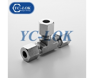 Stainless steel 316 3 way equal union tee for tube connector