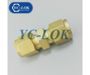 Wholesale Double Ferrule Connector Brass Compression Union Fitting For Gas