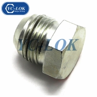 China Carbon steel zinc plated low price JIC male plug factory