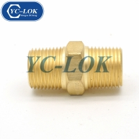 China Chinese factory brass NPT male tube adapter compression fittings factory