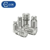 China ISO Flat Face Hydraulic Quick Connect Coupler for Agriculture Industry factory