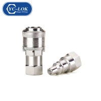 China Kzd Brass Hydraulic Quick Coupler Quick Connect Coupling factory