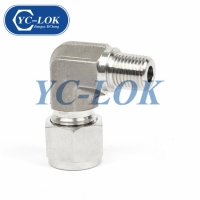 China Männlich gleich Hexagon 90 Grad Swivel Elbow Tube Adapter-Fabrik