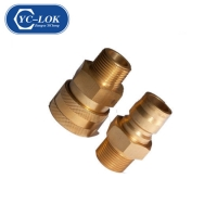 China Non-Valve Brass Coupling for Water Transfering factory