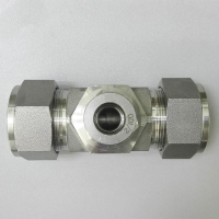 China Reducing ferrule tee branch hydraulic tube fittings factory