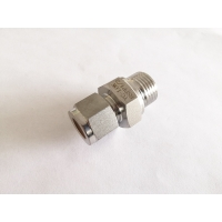 China Stainless Steel straight BSPP Male Thread ferrule hydraulic pipe fitting factory