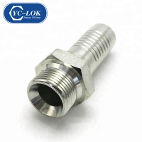 China Stainless steel Metric thread male hydraulic fittings factory