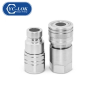 China Steel Flat Face Hydraulic Quick Couplings factory