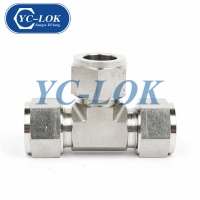 China Very Cheap Products 316 Stainless Steel 3 Way Male 14 Tee Tube Fitting factory