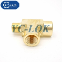 China Worldwide supplier brass BSPT reducer tube adapter tee fittings factory