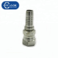 China YC-LOK Hydraulic nipple JIC Female double hexagon hose fittings factory
