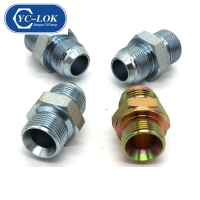 China jic male 74 degree cone nipples hydraulic adapters factory